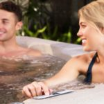 LIFE SMART 4 Person Plug & Play Square Hot Tub
